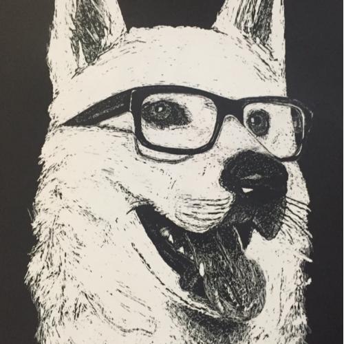 Scratchboard dog